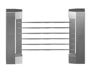 ประเทศจีน Indoor 180 Angle Two-way Direction Manual Swing Gate with 304# Stainless Steel Plate โรงงาน
