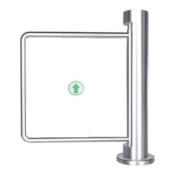 Indoor 90 Angle Single Directional Stainless Manual Swing Gate Barrier for Exhibition ผู้ผลิต