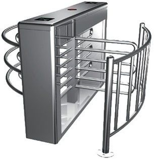 0.2s RS485 Stainless Steel Tube Automatic Rotation Full Height Turnstile For Subway ผู้ผลิต