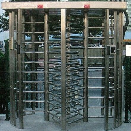 30 Persons / Min Stainless Full Height Turnstile with Sound and Light Alarm for Museum ผู้ผลิต